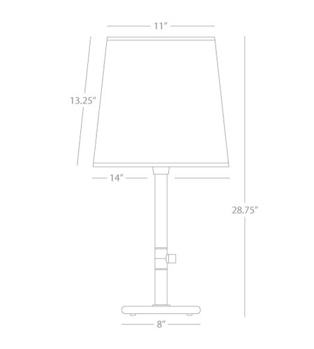 Robert Abbey 2082 Rico Espinet Buster Chica 29 inch 150 watt Polished Nickel Accent Lamp Portable Light in Taupe Claiborne alternative photo thumbnail