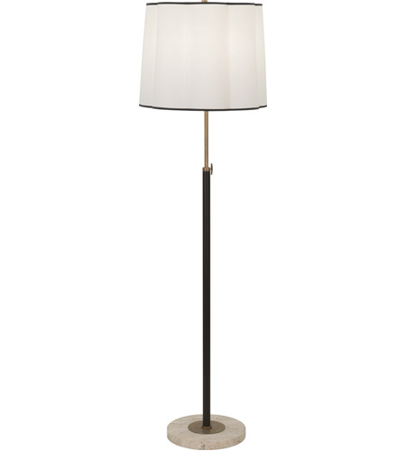 Robert Abbey 2131 Axis 58 inch 150 watt Aged Brass with Cocoa Brown Floor Lamp Portable Light in Fondine