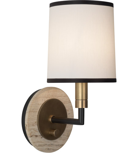 Robert Abbey 2136 Axis 1 Light 6 inch Aged Brass with Cocoa Brown Wall Sconce Wall Light in Fondine