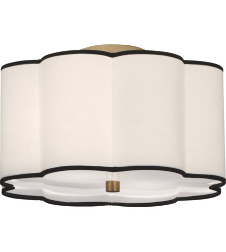 Robert Abbey 2139 Axis 2 Light 15 inch Aged Brass Flushmount Ceiling Light in Fondine photo