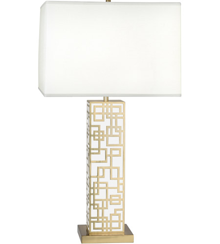 Robert Abbey 2273 Lloyd 30 Inch 150 Watt Modern Brass With White Laquer Table Lamp Portable Light In White Lacquered