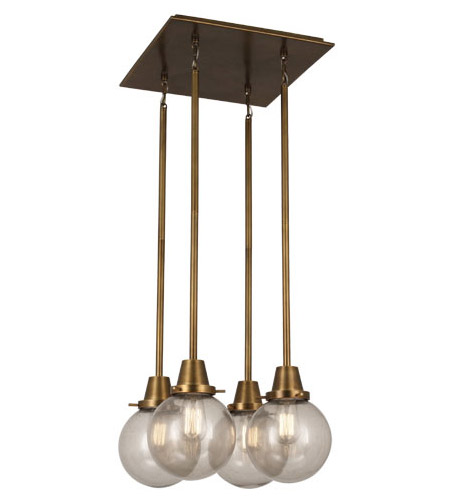 Rico Espinet Buster Globe 4 Light 15 Inch Aged Brass