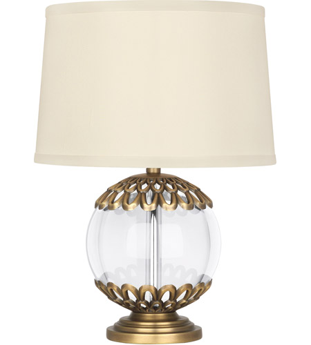 Robert Abbey 304 Williamsburg Polly 14 inch 60 watt Clear Crystal with Warm Brass Accent Lamp Portable Light in Ivory Silk photo