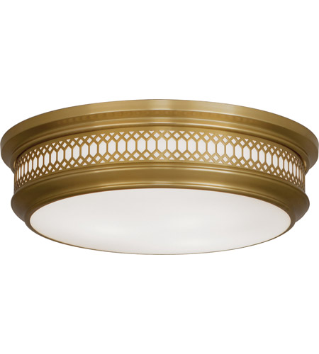 Robert Abbey 307 Williamsburg Tucker 3 Light 16 inch Antique Brass Flushmount Ceiling Light photo
