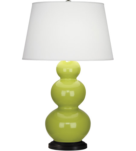 Apple Ceramic Triple Gourd Table Lamps
