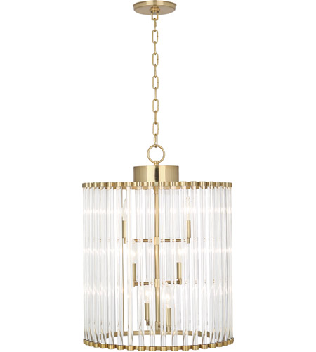 Robert Abbey 3344 Cole 6 Light 18 inch Modern Brass Chandelier Ceiling Light