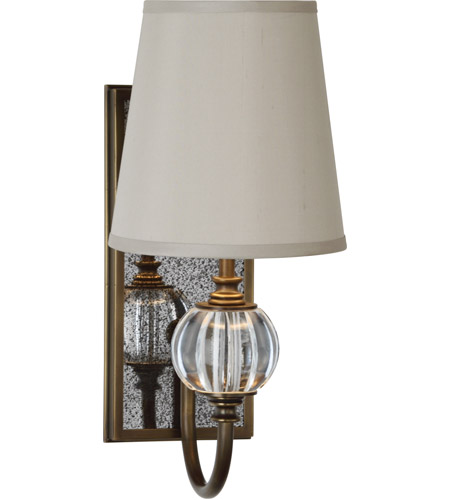 Robert Abbey 3368 Gossamer 1 Light 4 inch Weathered Brass with Antique Mirror Wall Sconce Wall Light photo