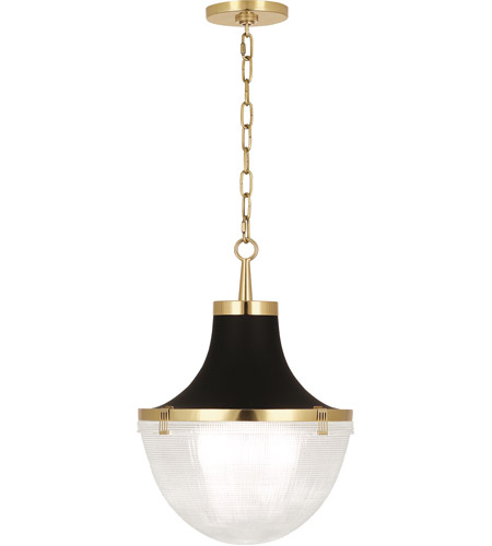 Robert Abbey 3391 Brighton 1 Light 15 inch Modern Brass with Matte Black Pendant Ceiling Light photo