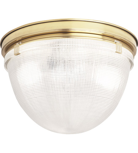 Robert Abbey 3392 Brighton 2 Light 14 inch Modern Brass Flushmount Ceiling Light