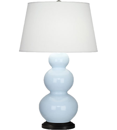 Baby Blue Triple Gourd Table Lamps