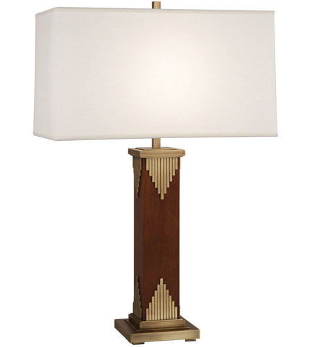 Robert Abbey Walnut Wood Table Lamps