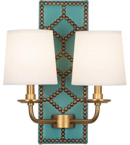 Robert Abbey Aged Brass Wall Sconces