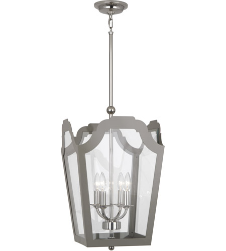 Robert Abbey 360 Williamsburg Tayloe 4 Light 15 inch Polished Nickel Pendant Ceiling Light in Smoky Taupe photo