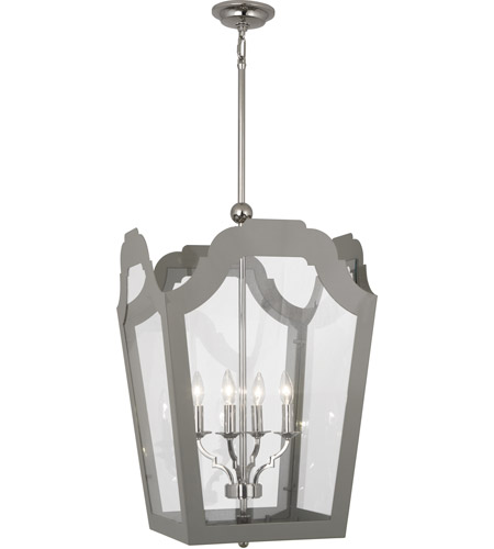 Robert Abbey 361 Williamsburg Tayloe 4 Light 20 inch Polished Nickel Pendant Ceiling Light in Smoky Taupe photo