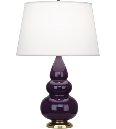 Robert Abbey 378X Small Triple Gourd 24 inch 150 watt Amethyst Accent Lamp Portable Light in Antique Brass photo thumbnail