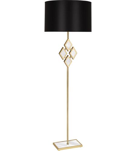Edward 62 inch 150 watt modern brass floor lamp portable for 150 watt floor lamp