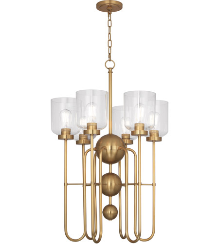 Robert Abbey 410 Williamsburg Tyrie 6 Light 20 inch Antique Brass Chandelier Ceiling Light photo