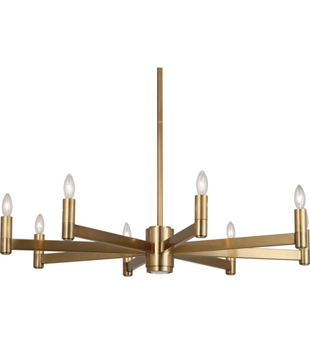 Robert Abbey 4500 Delany 10 Light 36 inch Antique Brass Chandelier Ceiling Light