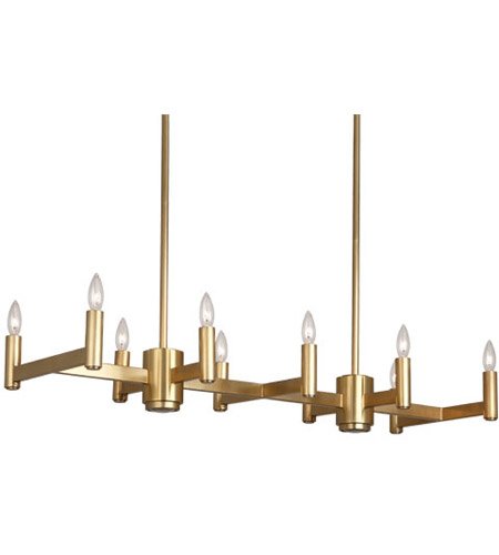 Robert Abbey 4501 Delany 12 Light 41 inch Antique Brass Chandelier Ceiling Light
