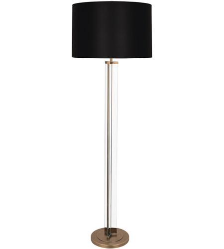 Black and Clear Glass Floor Lamps