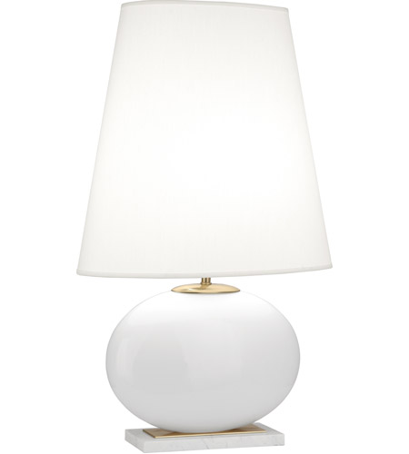 Robert Abbey 483 Raquel 30 Inch 150 Watt Modern Brass And White