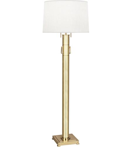 Robert abbey 526 athena 62 inch 100 watt modern brass floor lamp portable light