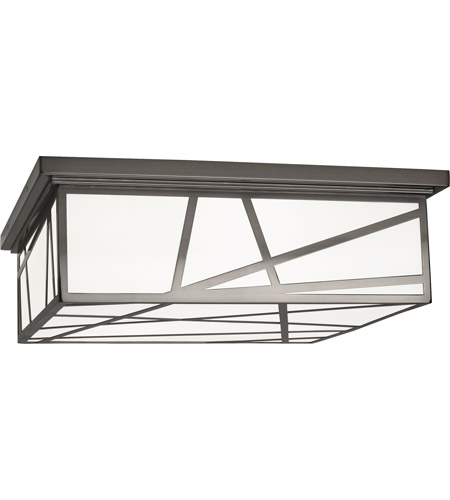 Robert Abbey 555 Michael Berman Bond 3 Light 18 inch Blackened Nickel Flushmount Ceiling Light photo