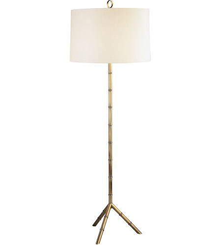 Robert Abbey 651 Jonathan Adler Meurice 66 inch 150 watt Modern Brass Floor Lamp Portable Light in Off-White Linen photo