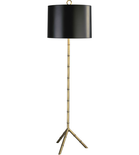 Robert Abbey 651B Jonathan Adler Meurice 66 inch 150 watt Modern Brass Floor Lamp Portable Light in Black with Gold Tortoise photo