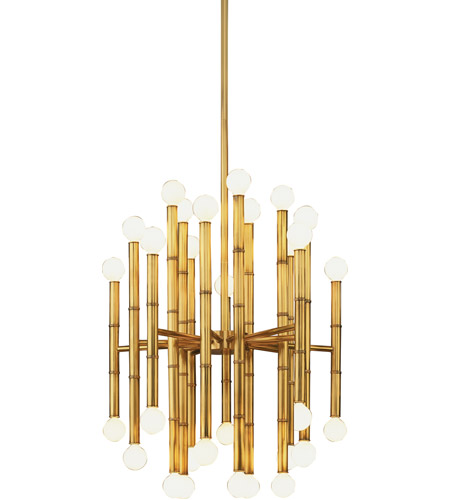 Robert Abbey 654 Jonathan Adler Meurice 30 Light 15 inch Modern Brass Chandelier Ceiling Light  photo