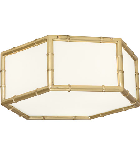 Robert Abbey 763 Jonathan Adler Meurice 3 Light 15 inch Modern Brass Flushmount Ceiling Light photo