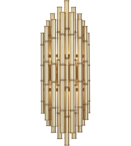 Robert Abbey 764 Jonathan Adler Meurice 2 Light 8 inch Modern Brass Wall Sconce Wall Light photo