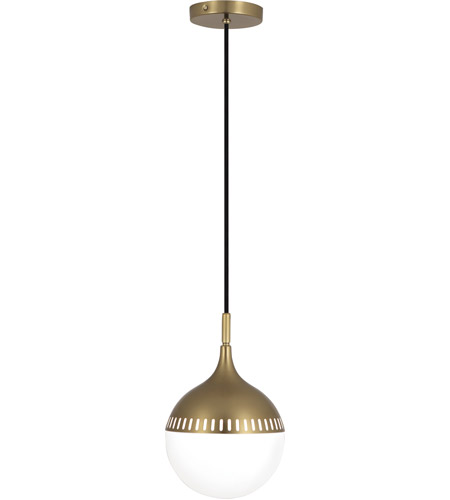 Robert Abbey 792 Jonathan Adler Rio 1 Light 8 inch Antique Brass Pendant Ceiling Light photo