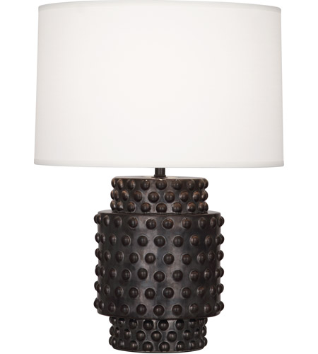 Robert Abbey 801 Dolly 21 inch 150 watt Textured Ceramic with Gunmetal Reactive Glaze Table Lamp Portable Light in Fondine Fabric
