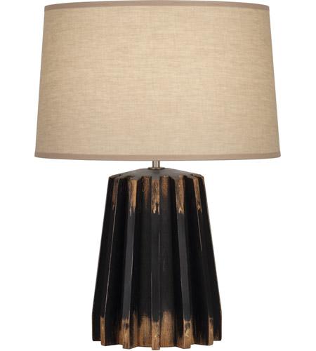 Robert Abbey 824 Rico Espinet Adirondack 22 Inch 150 Watt Distressed Black Painted Table Lamp Portable Light