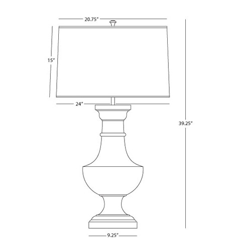Robert Abbey 837C Bronte 39 inch 150 watt Matte White Painted Table Lamp Portable Light in Chocolate Painted Opaque Parchment 837C_line.jpg