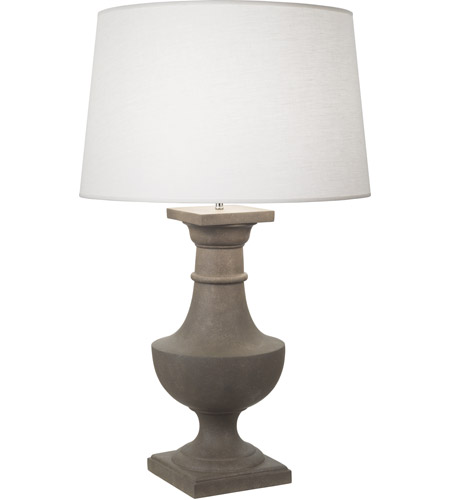 Robert Abbey 838 Bronte 39 inch 150 watt Faux Limestone Painted Table Lamp Portable Light in Oyster Linen