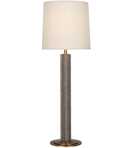 Robert Abbey 892 Anna 31 inch 100 watt Faux Brown Snakeskin with Aged Brass Table Lamp Portable Light