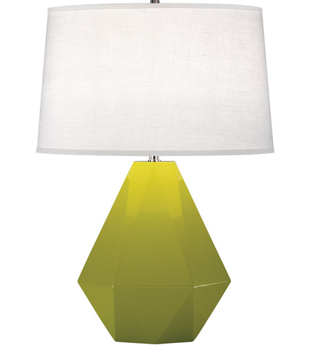Robert Abbey 935 Delta 23 inch 150 watt Apple with Polished Nickel Table Lamp Portable Light in Oyster Linen