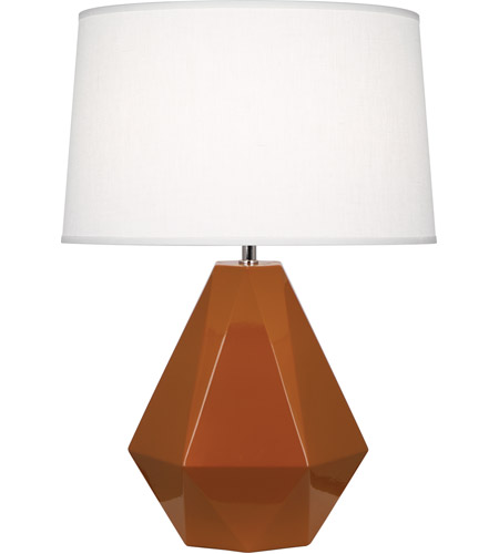 Robert Abbey 944 Delta 23 inch 150 watt Cinnamon with Polished Nickel Table Lamp Portable Light