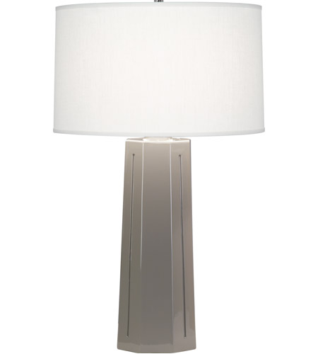 Robert Abbey 972 Mason 26 Inch 150 Watt Smoky Taupe Table Lamp Portable  Light In Smokey Taupe