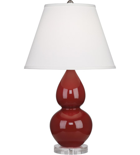 Oxblood Small Double Gourd Table Lamps