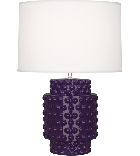 Robert Abbey AM801 Dolly 21 inch 150 watt Amethyst Accent Lamp Portable Light photo thumbnail