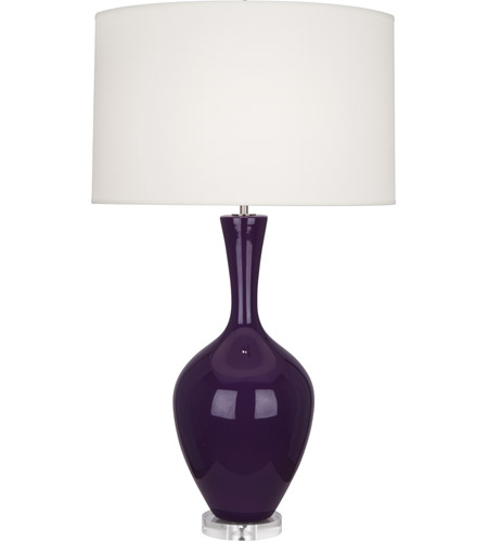 Robert Abbey AM980 Audrey 34 inch 150 watt Amethyst with Lucite Table Lamp Portable Light