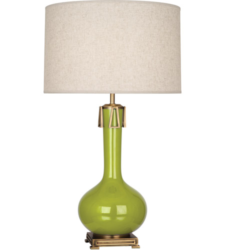 Robert Abbey AP992 Athena 32 inch 150 watt Apple with Aged Brass Table Lamp Portable Light