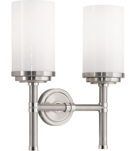 Robert Abbey B1325 Halo 2 Light 11 inch Brushed Nickel with Polished Nickel Wall Sconce Wall Light  sc 1 st  Robert Abbey at Lighting - Lighting New York & Robert Abbey B1325 Halo 2 Light 11 inch Brushed Nickel with Polished ...