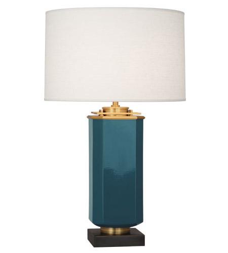 Mary Mcdonald Empire 31 Inch 150 Watt Cedet Blue Table Lamp Portable Light
