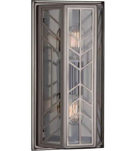 Robert Abbey B3400 Octavius 2 Light 8 inch Blackened Nickel Wall Sconce Wall Light photo