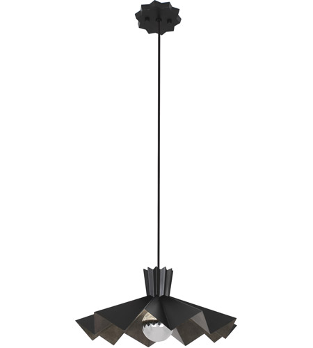 Robert Abbey Blk69 Rico Espinet Bat 1 Light 15 Inch Matte Black Painted Pendant Ceiling
