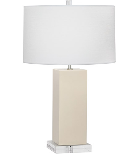 Robert Abbey BN995 Harvey 33 inch 150 watt Bone Table Lamp Portable Light photo thumbnail